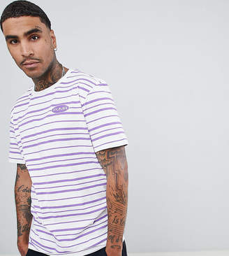 Puma organic cotton retro stripe t-shirt in purple Exclusive at ASOS
