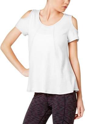 Calvin Klein Womens Cold Shoulder Scoop Neck Pullover Top M