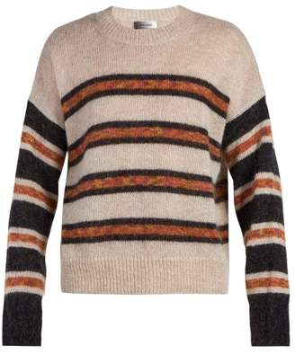 Isabel Marant Russell Crew Neck Mohair Blend Sweater - Mens - Beige