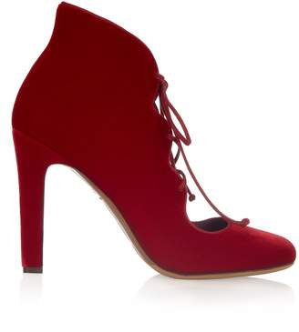 Tabitha Simmons Aubrey velvet lace-up pumps