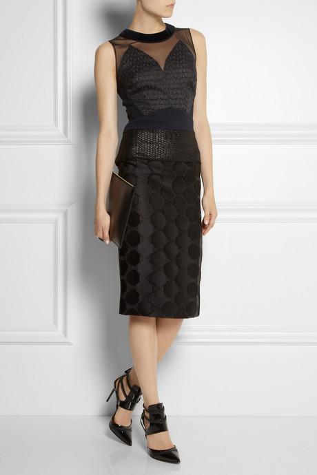 Antonio Berardi Paneled wool and silk-blend dress