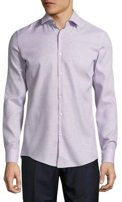 HUGO BOSS Jenno Long-Sleeve Cotton Button-Down Shirt