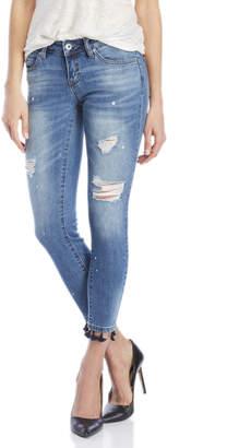 Dollhouse Tassel Hem Skinny Jeans