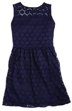 Aqua Girls' Sleeveless Disc-Lace Dress - Big Kid - 100% Exclusive