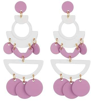 Free Press Abstract Disc Chandelier Earrings