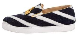 Christian Louboutin Boat Spa Striped Sneakers