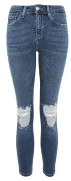 Topshop PETITE High Waisted Ripped Jamie Jeans