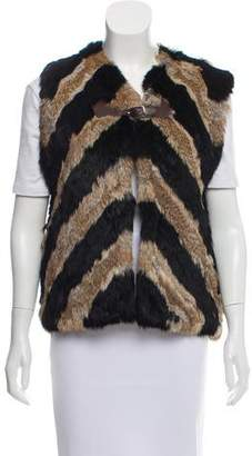 Pologeorgis Knitted Fur Vest