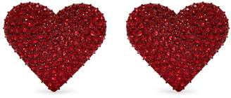 Valentino Heart-embellished clip-on earrings