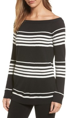 Women's Halogen Cotton Blend Off The Shoulder Sweater $69 thestylecure.com