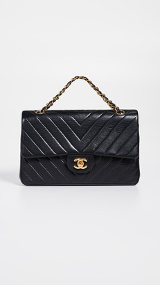 Chanel What Goes Around Comes Around Chevron Flap Bag