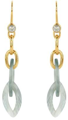 Adore Gold Plated & Resin Link Drop Earrings