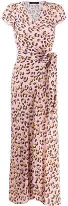 Andamane leopard print wrap dress