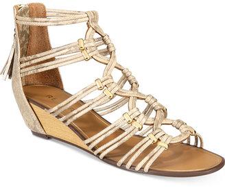 Report Maple Wedge Dress Sandals Women's Shoes $60 thestylecure.com