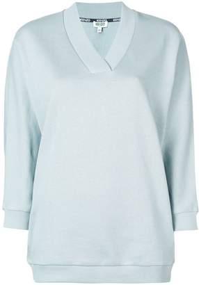 Kenzo logo print V-neck sweatshirt
