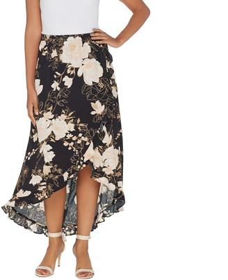 G.I.L.I. Got It Love It G.I.L.I. Petite High-Low Ruffle Hem Skirt