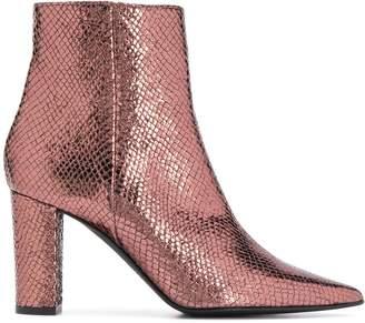 Marc Ellis metallic ankle boots