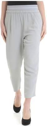 Fabiana Filippi Contrast Waistband Trousers