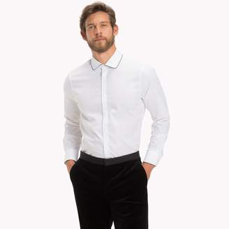 Tommy Hilfiger Rounded Collar Tuxedo Shirt