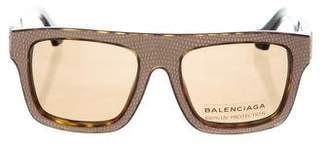 Balenciaga Logo-Embellished Tinted Sunglasses w/ Tags