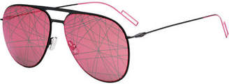 Christian Dior Scribble-Lens Aviator Sunglasses