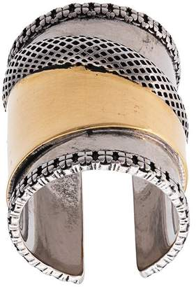 Alexander McQueen large Mechanical ring