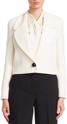 Carolina Herrera Women's Solid Cropped Jacket