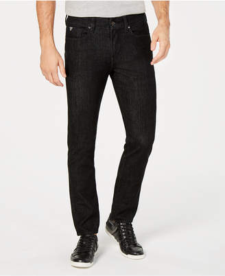 GUESS Men Slim-Fit Tapered Blackout Jeans