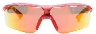 Stella McCartney Turbo Reflective Lens Sunglasses - Womens - Burgundy