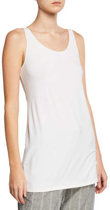 Eileen Fisher Sleeveless Scoop-Neck Lightweight Jersey Tank $108 thestylecure.com