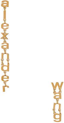 Alexander Wang Small Letter Earrings