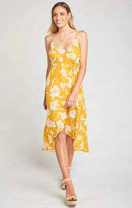 Show Me Your Mumu Meghan Wrap Dress ~ Bloom Gold