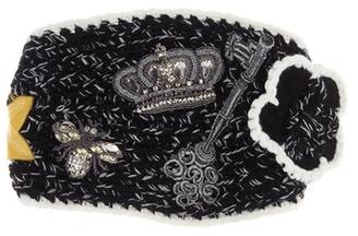 Dolce & Gabbana Embellished Cashmere Headband