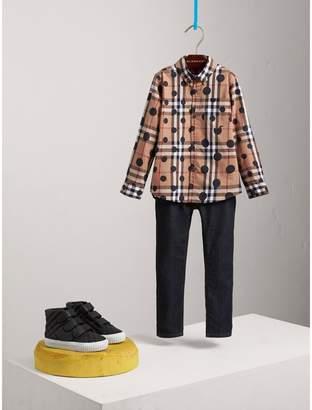 Burberry Polka-dot Check Cotton Shirt