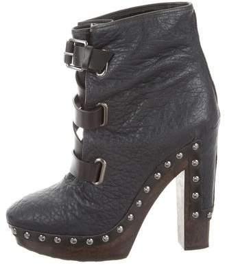 Diane von Furstenberg Lace-Up Buckle Ankle Boots