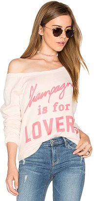 The Laundry Room Champagne Lovers Cozy Crew in Blush $88 thestylecure.com