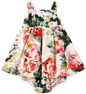 Dolce & Gabbana Floral Cotton Dress & Diaper Cover