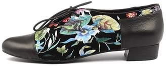 Django & Juliette Evan Black-bright fl Shoes Womens Shoes Casual Flat Shoes