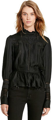 Ralph Lauren Denim & Supply Lace-Inset Blouse $145 thestylecure.com