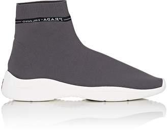 Prada Men's Logo Knit Sock Sneakers