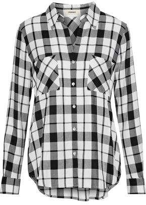 L'Agence Jacqueline Checked Twill Shirt