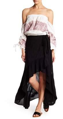 YFB Clothing Prarie Hi-Lo Wrap Eyelet Skirt
