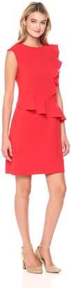 ECI New York Women's Cap Sleeve Ruffled Dress