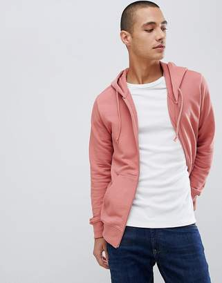 Pull&Bear Join Life Hoodie In Pink