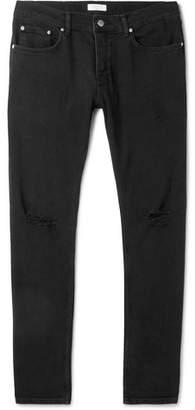 Sandro Slim-Fit Distressed Stretch-Denim Jeans