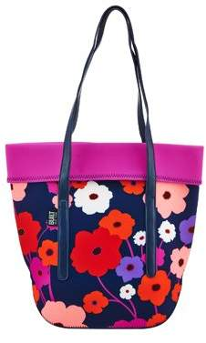 Built NY Neoprene Large City Tote with Strap Lush Flower, Lunch Bag
