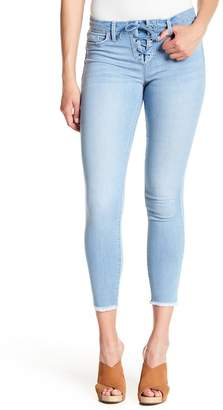 Jessica Simpson Kiss Me Lace-Up Ankle Skinny Jeans