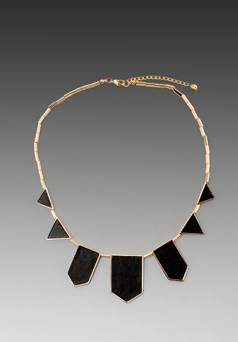 House of Harlow House of Harlow Black Leather Necklace