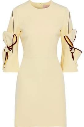 Roksanda Lavete Bow-embellished Crepe Mini Dress