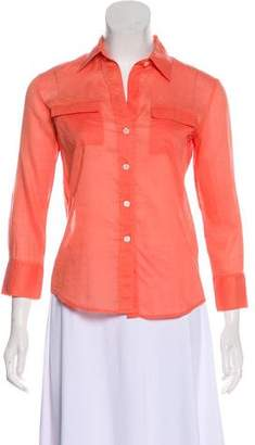 Theory Collared Button-Up Top